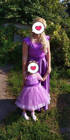 Платье мама+дочка. Вечернее, нарядное, праздничное, пишное, юбка пачка