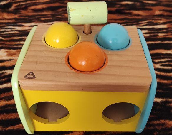 Развивающая деревянная игрушка-стучалка ELC