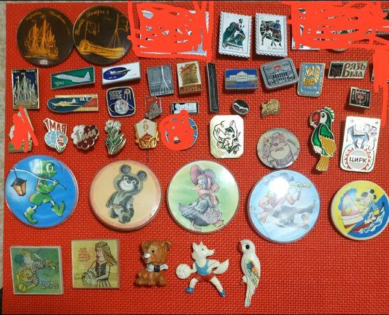 Значки СССР ,1мая,детские и тд
