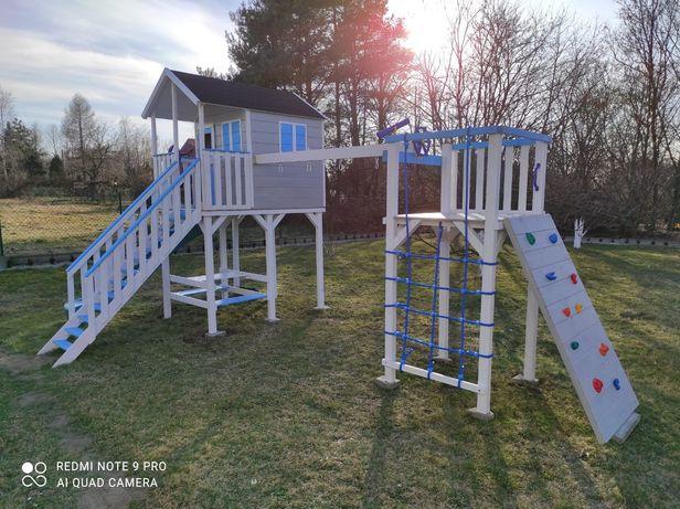 Drewniany plac zabaw, domek dla dzieci piękny!