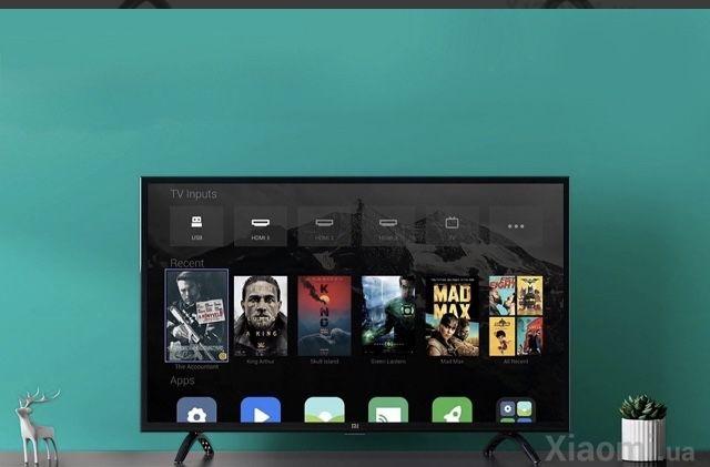 Телевизор XIAOMI MI TV 4A. 32 Новый  с разбитым экраном .