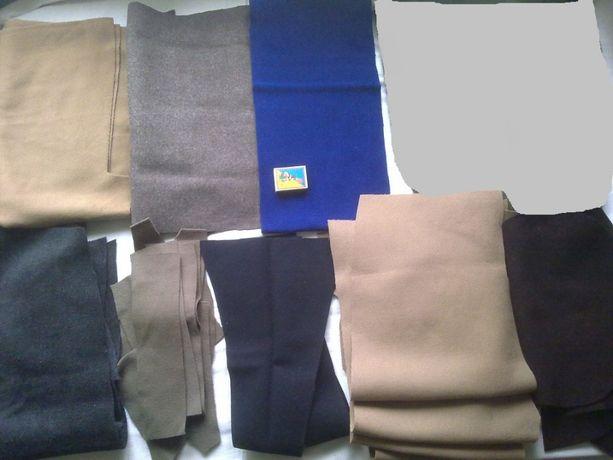 ДРАП-шерсть, набор 43 отрезков тканей большие лоскуты для рукоделия