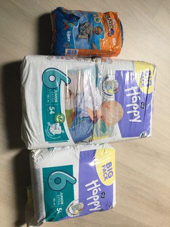 Подгузники 16 кг+ Happy / Huggies little swimmers 12-18 кг