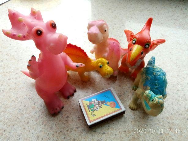 мягкие  динозавры 5 шт