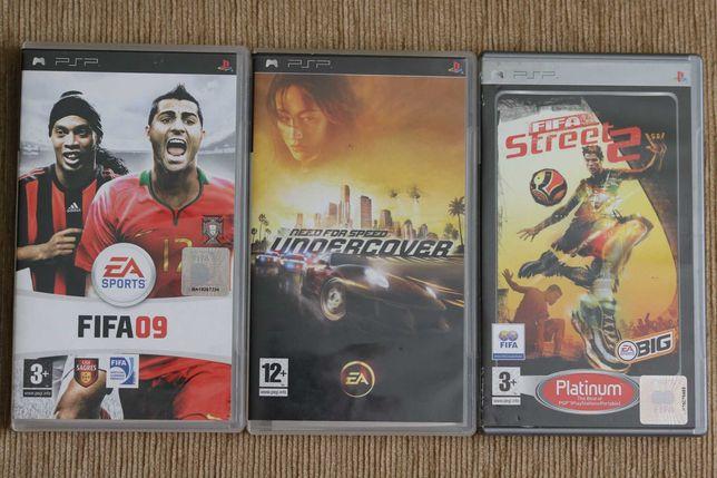 Jogos PSP - FIFA 9, NFS Undercover, FIFA Street 2