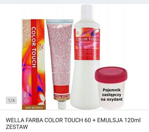 Wella farba colour touch 60 ml + emulsja 120 ml zestaw