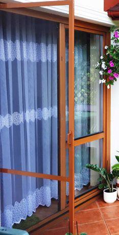 Podwójne Okno balkonowe drewniane z szybą zespoloną z demontażu