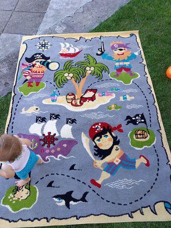 Dywan dziecięcy chłopięcy 160×220 stan bardzo dobry wyprany pirat