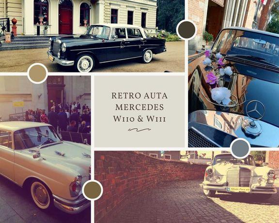RETRO Auta do ślubu MERCEDES W110 i W111 zabytkowe, na wesele