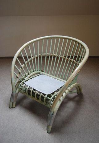 Fotel rattan - nowy, wyprzedaż poekspozycyjna
