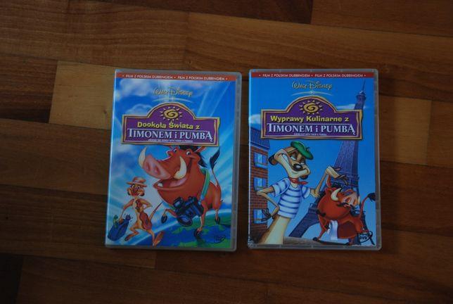2 płyty DVD - bajki o Timonie i Pumbie - W. Disney