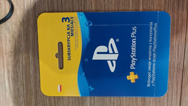 Playstation plus 3 miesiące zdrapka