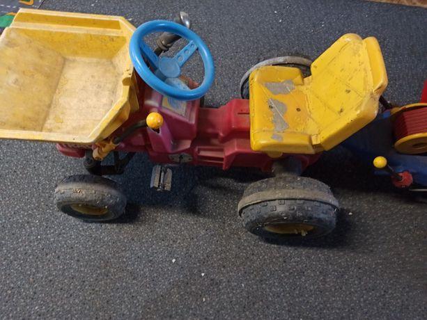 Duży Traktorek z przyczepką na pedała