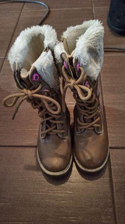 Buty dziewczęce zimowe rozm. 25