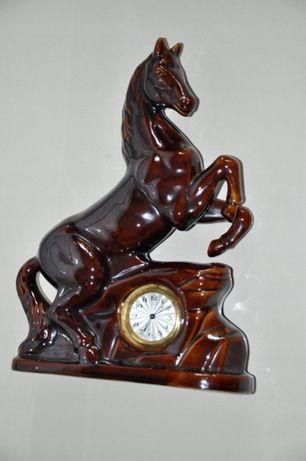Zegar porcelanowy koń _ zegar kominkowy stary