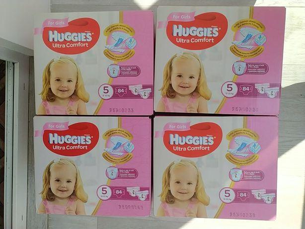 Подгузники Huggies Ultra Comfort для девочек 5 (12-22 кг) 84шт 2* 42 ш