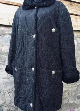 Женская удлиненная куртка/пальто большого размера 54-56