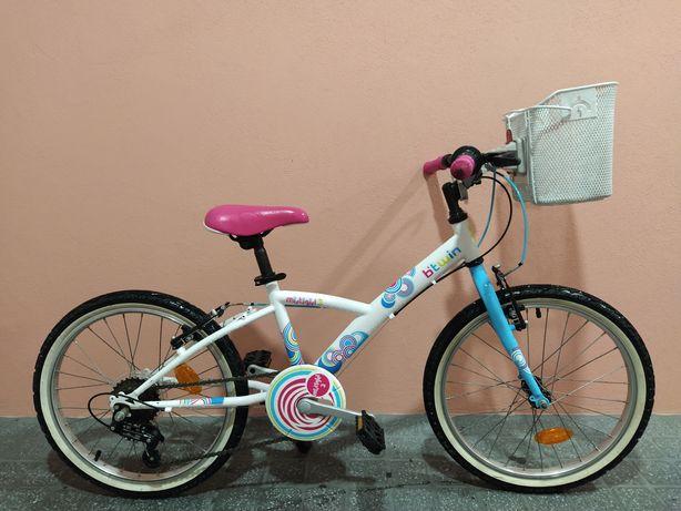 """Bicicleta Btwin Criança 20"""" 6-9 Anos COMO NOVA"""
