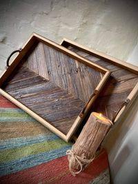 Taca drewniana Taca ze starego drewna 34x44 cm