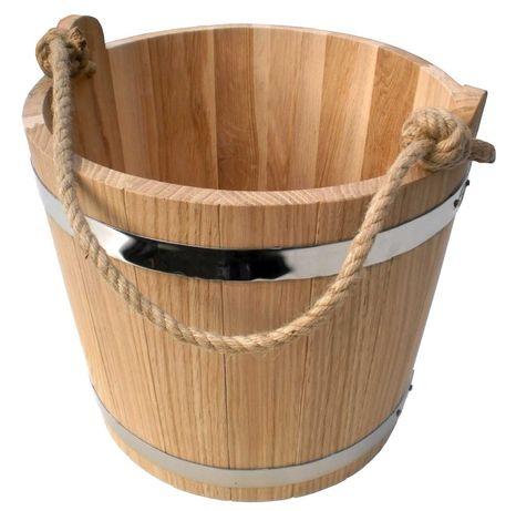 Ведро для бани (ведро деревянное) 10 л