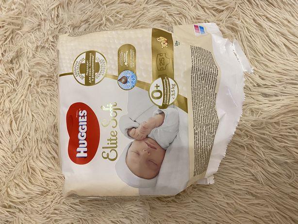 Подгузники 0+ 3,5кг Huggies Elite Soft