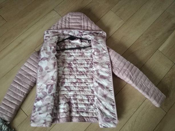 WIOSENNA kurtka pikowana RÓŻ pudrowy