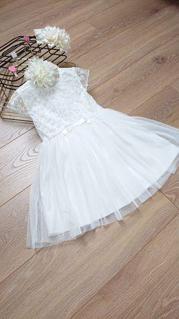 sukienka na chrzest, komunię rozmiar 98, 104