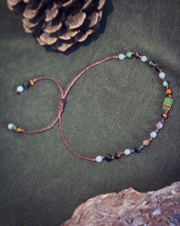 Bransoletka Chryzopraz. Kamienie naturalne. Handmade.