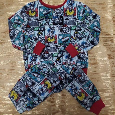Велюр теплая пижама костюм для дома Tesco Paw Patrol 3-4 года.