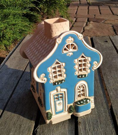 Светильник. Декоративный домик подсвечник. Керамика
