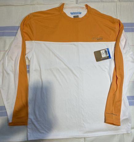 Мужская футболк с длинным рукавом Columbia PFG ZERO Rules - Белая кепк