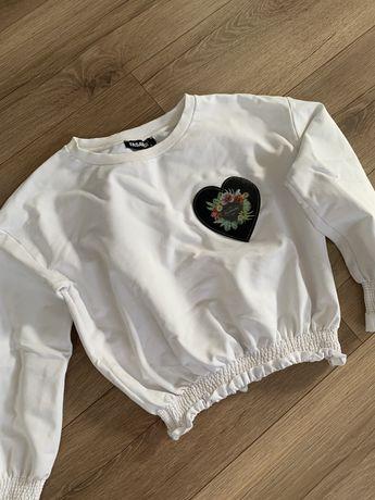 Krótka biała bluza roz. S