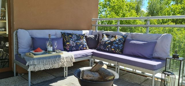 IKEA Enholmen sofa narożna meble modułowe taras ogród