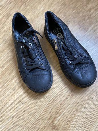 Кожаные черные кеды кроссовки Braska Geox Zara Ecco 33 размер