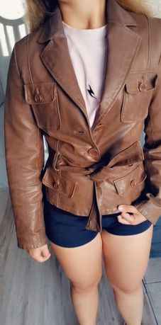 Skórzana kurtka New Look rozmiar 36 skóra naturalna