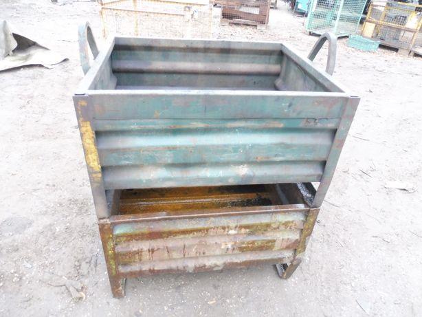 Pojemnik metalowy gitterbox na złom, gruz
