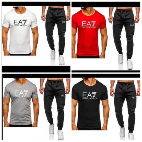 Komplet męski EA7 spodnie + koszulka M L XL XXL
