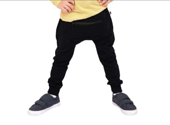 Spodnie z zamkiem czarne style kids