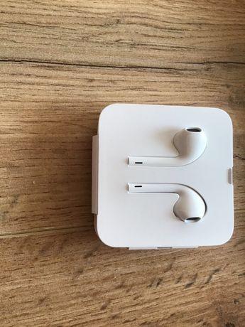 Nowe oryginalne słuchawki APPLE + przejściówka
