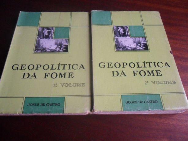 """""""Geopolítica da Fome"""" de Josué de Castro - 2 Volumes"""