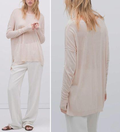ZARA cienki sweterek - roz M