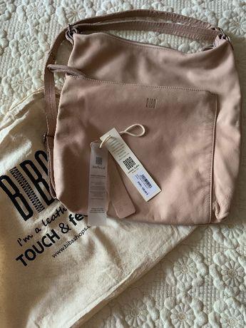Продам кожаную сумку-рюкзак пудрового цвета