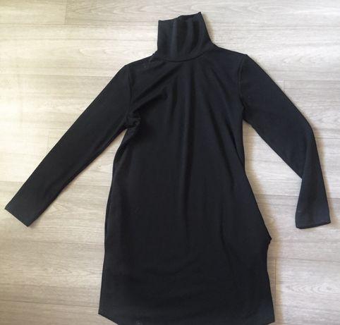 Платье гольф базовое черное