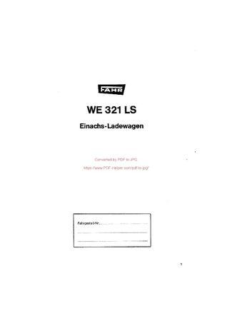 katalog części Przyczepa samozbierająca WE 321