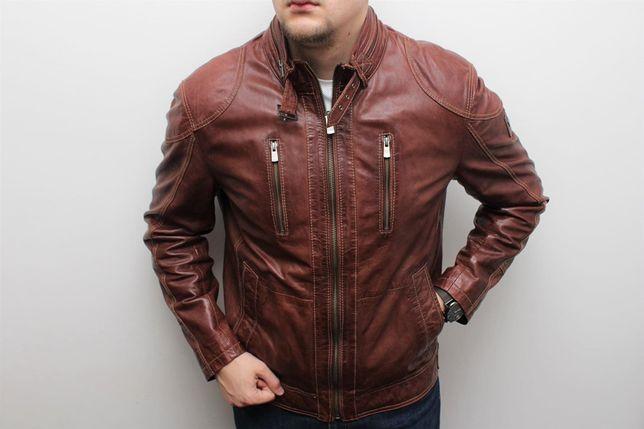 Оригинальная мужская кожаная куртка кожанка Lloyd (Belstaff, Diesel)