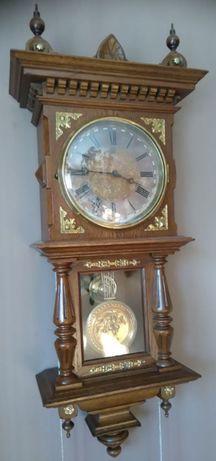 Unikatowy stary zegar Junghans w dębowej skrzyni, tarcza 21cm 1890