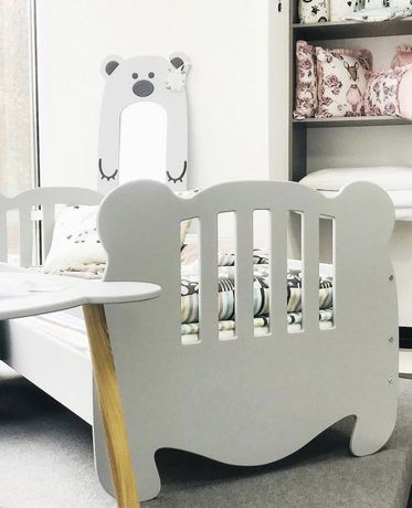 Кровать детская от 3 лет , деревянная мишки 160*80, 190*90