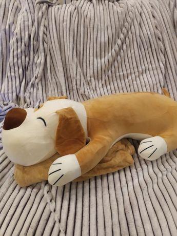 Большая игрушка плед подушка 3 в 1 Собака / Іграшка-плед Собака