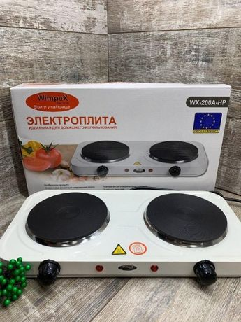 Плита электрическая дисковая двухкомфорочная Wimpex WX-200A-HP