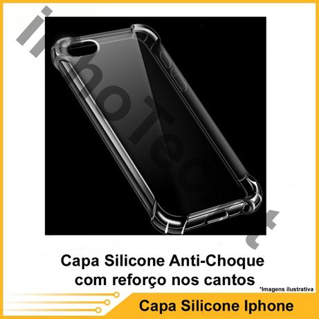 Capa Silicone Anti-Choque iPhone 6P/ 6SP /7P/ 8P / X / XS /XR /XS MAX